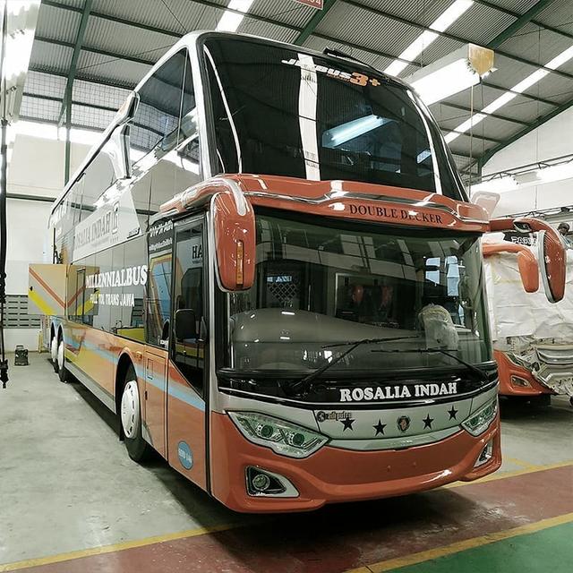Bus Tingkat Rosalia Indah Baru Pakai Sasis Scania, Apa Istimewanya? (24279)
