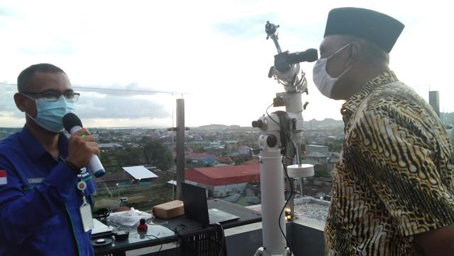 Posisi Hilal Saat Matahari Terbenam di Kota Sorong, Papua Barat, Tak Dilihat (493156)