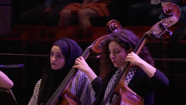 Maryam Afifi yang Ditangkap Israel Pemain Kontrabas Palestine Youth Orchestra (315915)