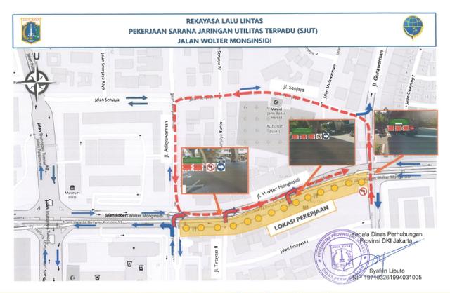 Ada Proyek Galian dan JPO Stasiun LRT di Jaksel, Simak Rekayasa Lalu Lintasnya (96428)