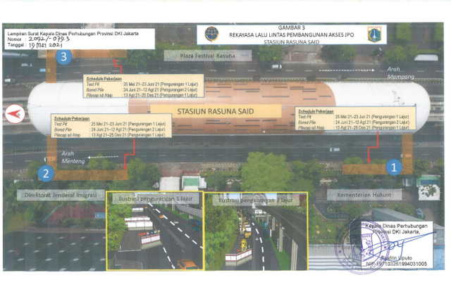 Ada Proyek Galian dan JPO Stasiun LRT di Jaksel, Simak Rekayasa Lalu Lintasnya (96431)