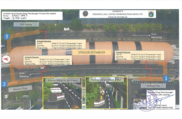 Ada Proyek Galian dan JPO Stasiun LRT di Jaksel, Simak Rekayasa Lalu Lintasnya (96432)
