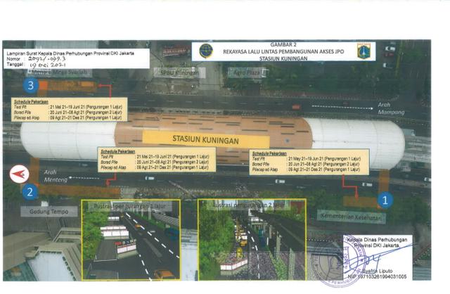 Ada Proyek Galian dan JPO Stasiun LRT di Jaksel, Simak Rekayasa Lalu Lintasnya (96430)
