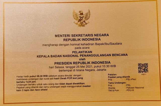 Kepala BNPB Doni Monardo Diganti, Jokowi Tunjuk Letjen Ganip Warsito (2)