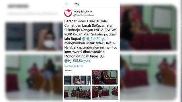 Gelar Halal Bihalal dan Dangdutan, Camat di Sukoharjo Dicopot (642487)