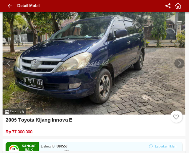Ada Toyota Innova Bekas Rp 70 Jutaan, Tertarik? (1656)