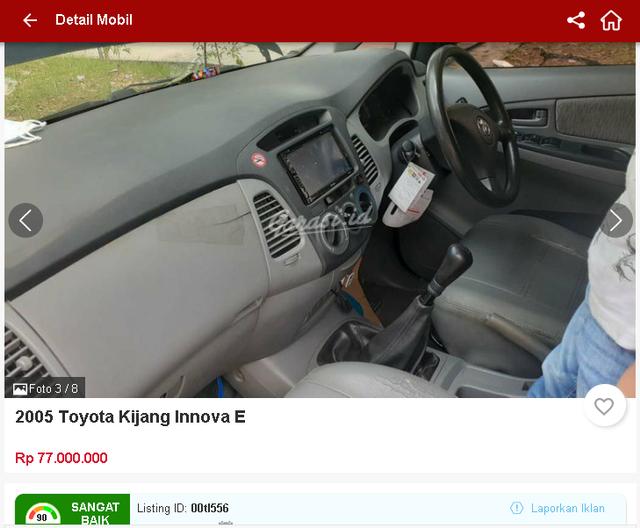 Ada Toyota Innova Bekas Rp 70 Jutaan, Tertarik? (1657)