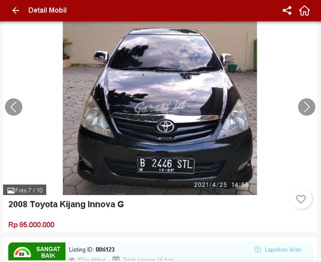 Ada Toyota Innova Bekas Rp 70 Jutaan, Tertarik? (1658)