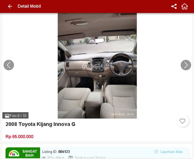Ada Toyota Innova Bekas Rp 70 Jutaan, Tertarik? (1660)