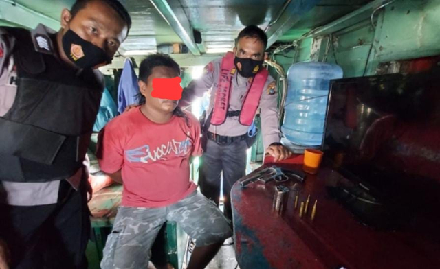 Simpan Senpi Rakitan, Nakhoda Togboat di Bangka Belitung Ditangkap Polisi (399318)