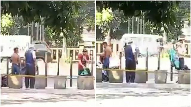 Aksi Driver Ojol Beri Pakaiannya untuk ODGJ Panen Pujian (63569)