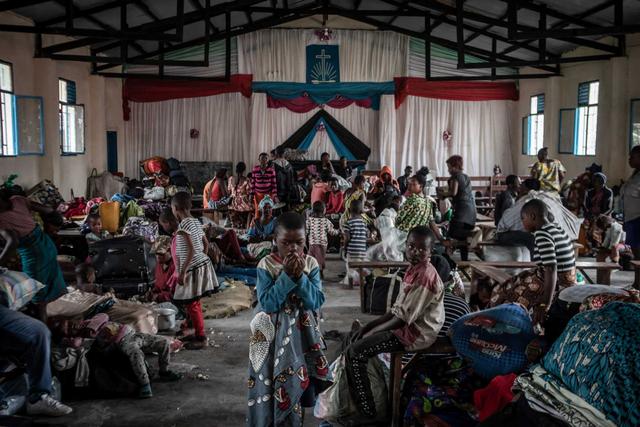 Foto: Potret Pengungsi Erupsi Gunung Nyiragongo di Kongo (155034)