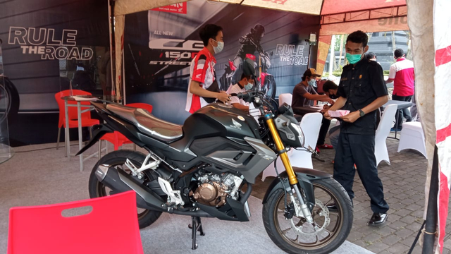 Motor Naked Sport All New CB150R Streetfire Hadir di Malang (503249)