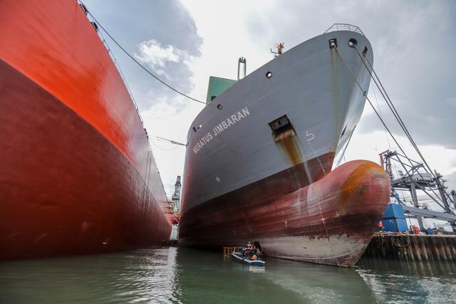 Foto: Melihat Industri Galangan Kapal di Batam (43278)