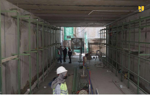 Melihat Perkembangan Pembangunan Terowongan Silaturahmi Masjid Istiqlal-Katedral (66487)