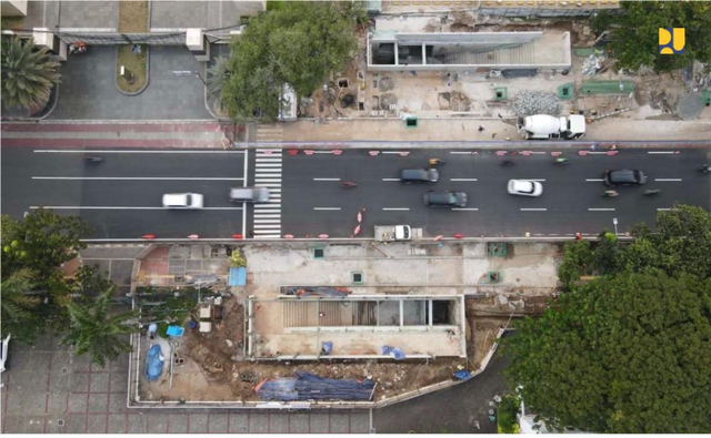 Melihat Perkembangan Pembangunan Terowongan Silaturahmi Masjid Istiqlal-Katedral (66489)