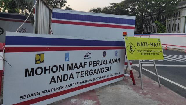 Melihat Perkembangan Pembangunan Terowongan Silaturahmi Masjid Istiqlal-Katedral (66491)
