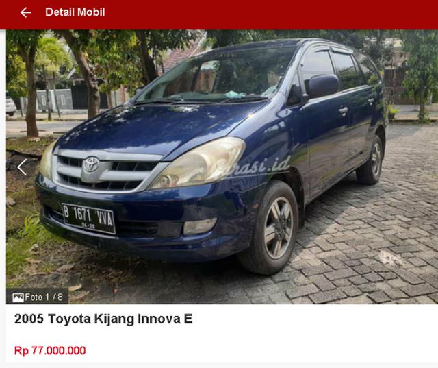 Berburu Toyota Innova Bekas Rp 70 Jutaan, Ini Spesifikasi dan Fiturnya (47471)