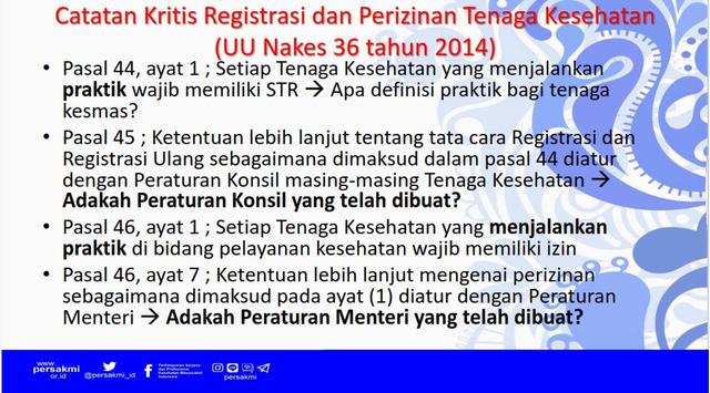 Literasi Sertifikasi, Registrasi dan Perizinan Tenaga Kesehatan SKM (87758)