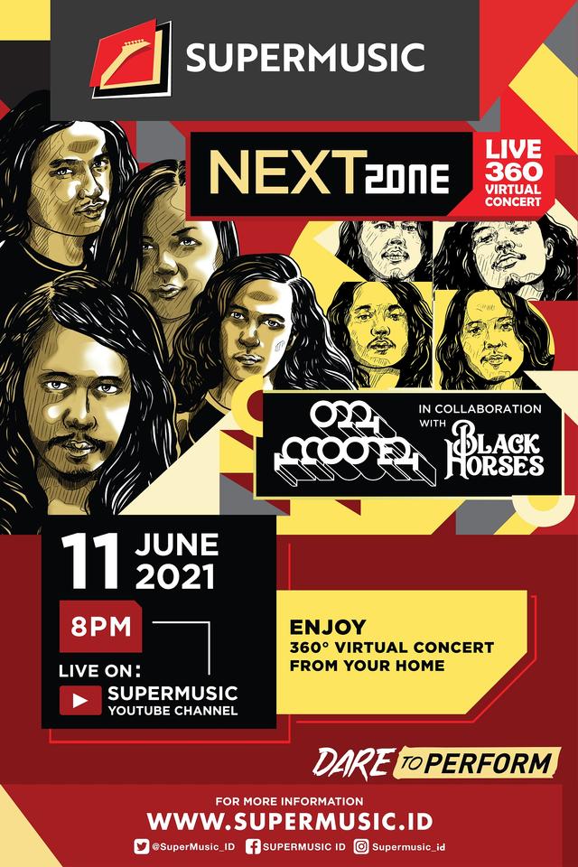 Mooner & Black Horses Kolaborasi di Konser Virtual Supermusic Nextzone Live 360 (45332)