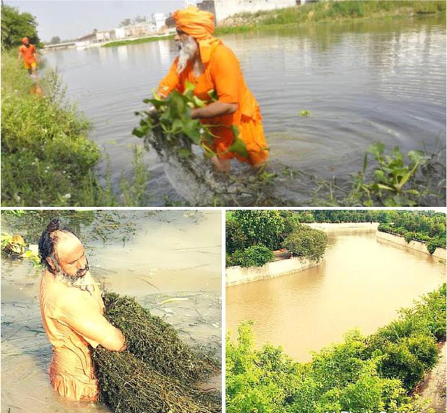 Kerja Ikhlas, Pria di India Bersihkan Sungai Sepanjang 160 Km dari Limbah (31953)