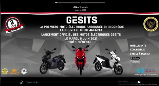 GESITS Motor Listrik Asli Indonesia Punya Pabrik di Senegal! (244755)