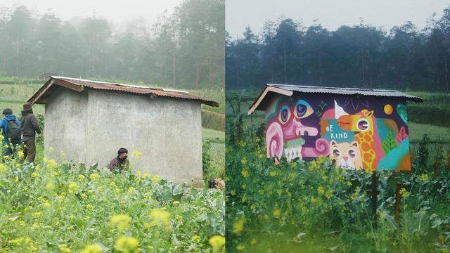 Cerita Seniman Muda Hias Gubuk dengan Lukisan Mural agar Petani Senang (458329)
