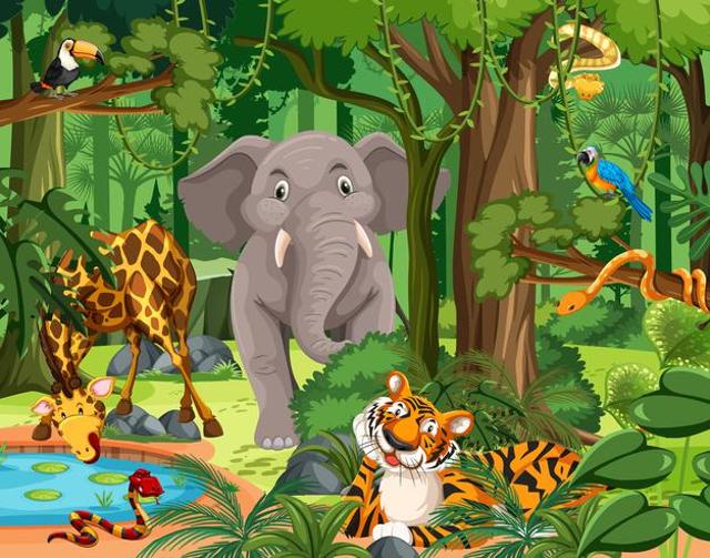 "Cerita Dongeng Pendek ""Kelinci Pintar dan Harimau"" (21671)"