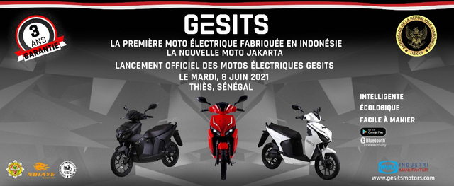 Bangga, GESITS Motor Listrik Anak Bangsa Resmi Mendarat di Senegal! (7096)