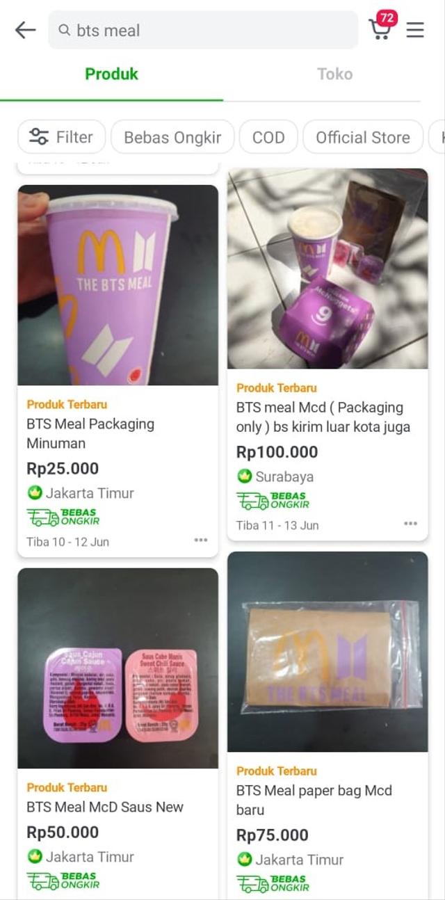 Viral! Bungkus The BTS Meal Dijual sampai Rp 500 Ribu di E-Commerce (327587)