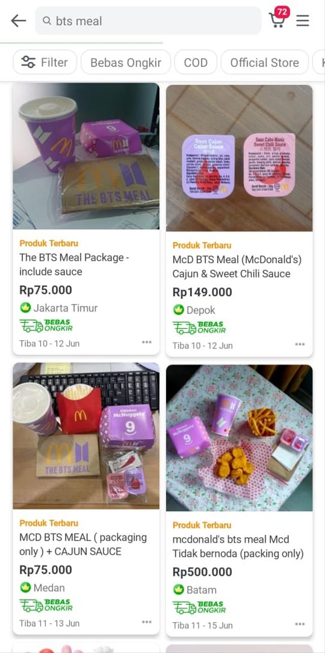Viral! Bungkus The BTS Meal Dijual sampai Rp 500 Ribu di E-Commerce (327588)