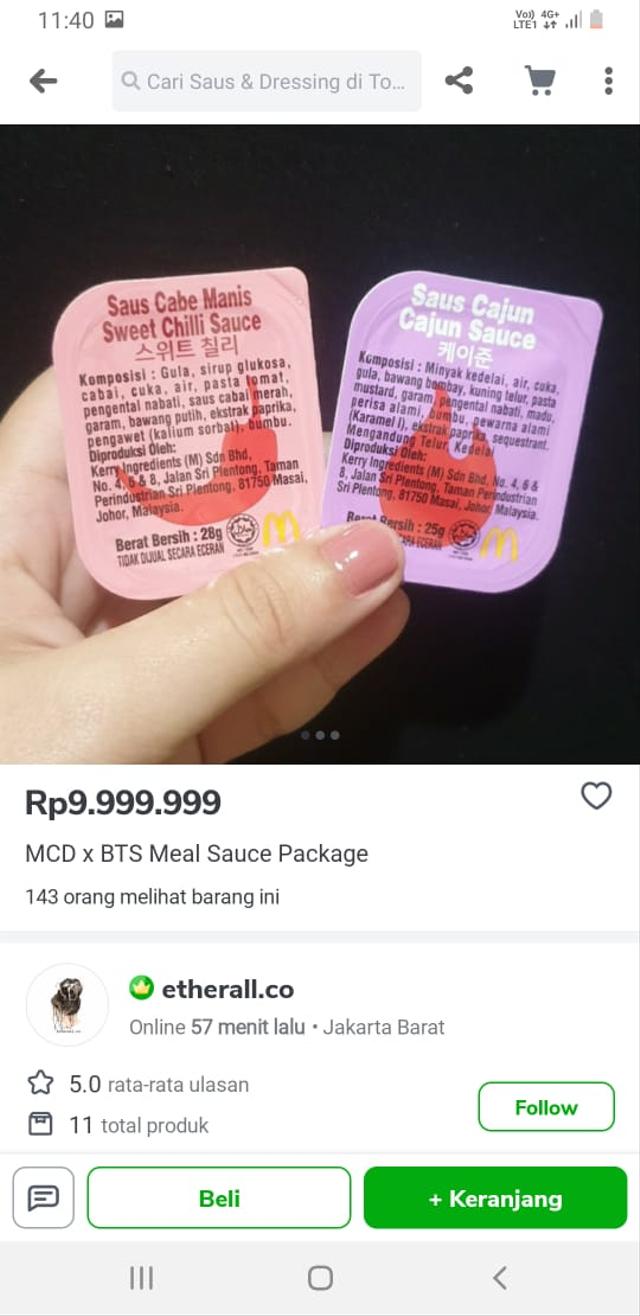 Heboh Bungkus BTS Meal Dijual di E-commerce, Harganya Tembus Rp 100 Juta (17357)