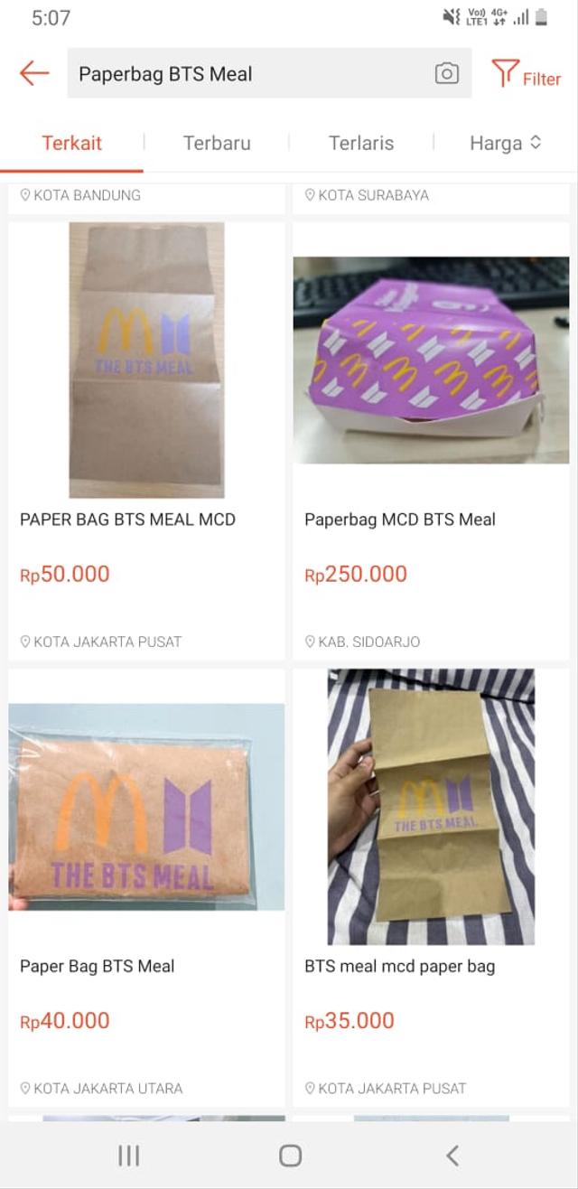 Heboh Bungkus BTS Meal Dijual di E-commerce, Harganya Tembus Rp 100 Juta (17358)