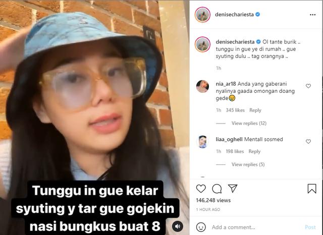 Tak Bisa Temui Denise Chariesta di Rumahnya, Dewi Perssik: Cemen Lu (463896)