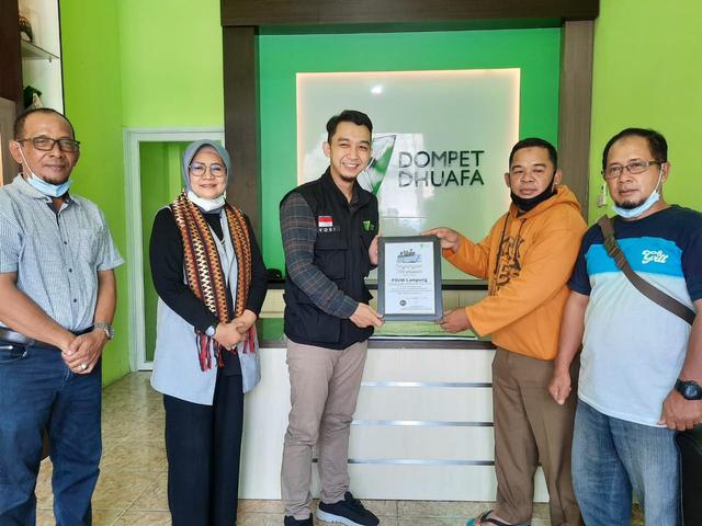 P3UW Gulirkan Donasi Bagi Rakyat Palestina Melalui DD Lampung (40885)