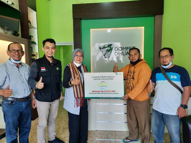 P3UW Gulirkan Donasi Bagi Rakyat Palestina Melalui DD Lampung (40886)