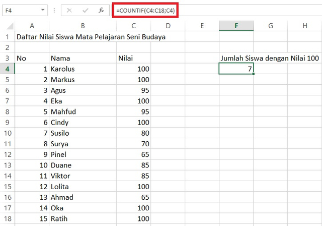 Rumus Excel untuk Mengetahui Data yang Sama (180359)