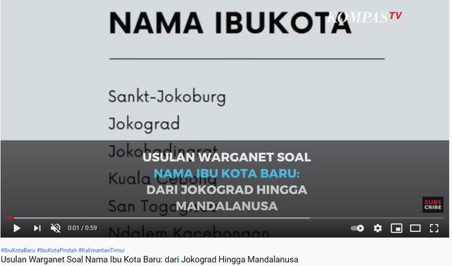 Sudut Pandang Toponimi: Adakah Usulan dan Sayembara Nama Ibu Kota Baru? (329030)