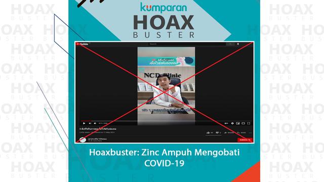 Hoaxbuster: Video Soal Zinc Diklaim Ampuh Mengobati Virus COVID-19 (330159)
