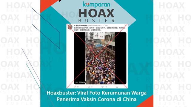 Hoaxbuster: Viral Foto Kerumunan Warga Antre Vaksinasi Corona di China (124411)
