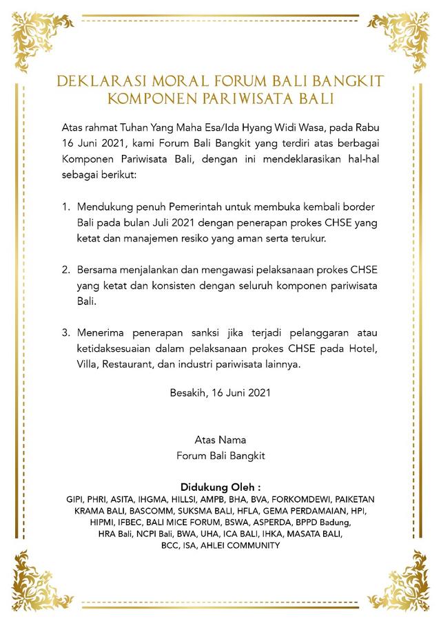 Dukung 'Bali Open Border', Komponen Pariwisata Doa Bersama di Pura Besakih (40142)