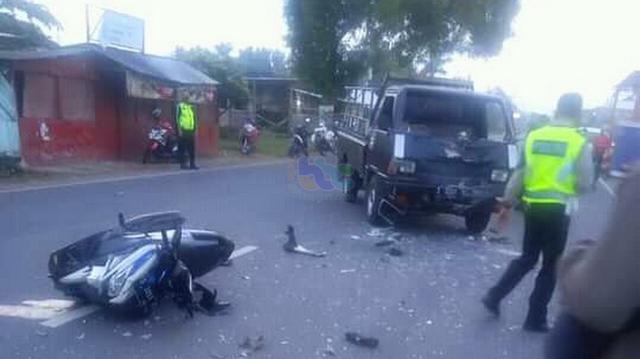 Pikap Tabrak Motor di Tuban, 2 Orang Pemotor Luka-luka (43326)