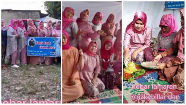 Viral Emak-emak Adakan Nobar Lamaran Leslar, Pakai Dress Code Nuansa Pink (1120771)