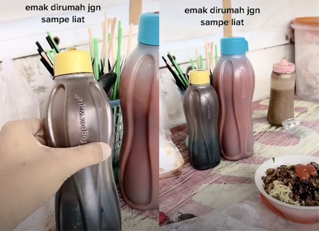 Viral Tupperware Jadi Botol Saus dan Kecap, Netizen: Emak Menangis Melihat Ini (1013429)