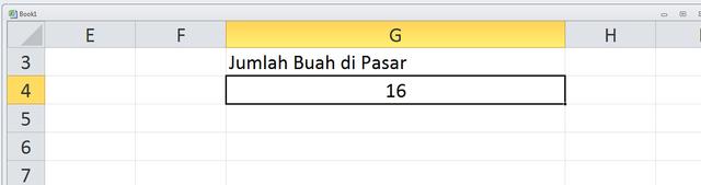 Rumus Excel Menghitung Jumlah Data yang Berbeda (201762)