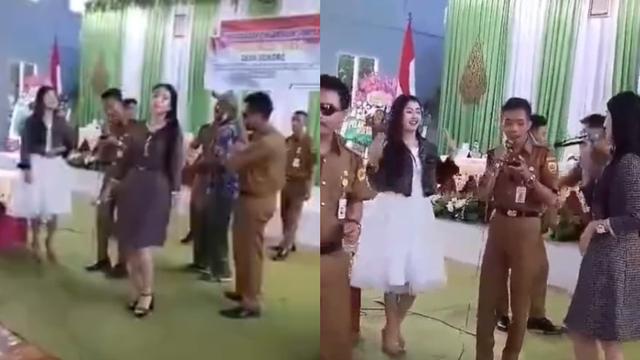Video Perangkat Desa di Grobogan Asyik Joget Dangdutan Tak Pakai Masker     (372385)
