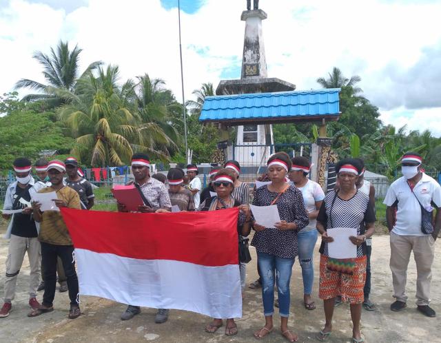 Garda Merah Putih Sorong Selatan Deklarasi Menolak Kampanye Papua Merdeka (104279)