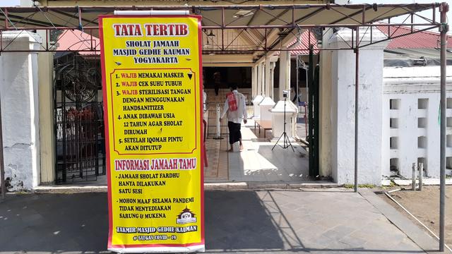 PPKM Darurat: Masjid Kauman DIY Ditutup untuk Umum, Hanya Khusus Jemaah Sekitar (71711)