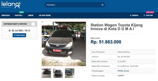 Lelang Toyota Innova Mulai Rp 43 Jutaan, Tertarik? (497397)