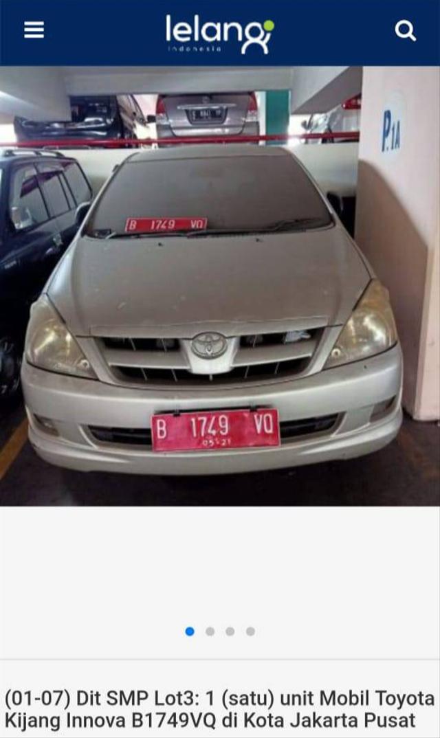 Lelang Toyota Innova Mulai Rp 43 Jutaan, Tertarik? (497398)